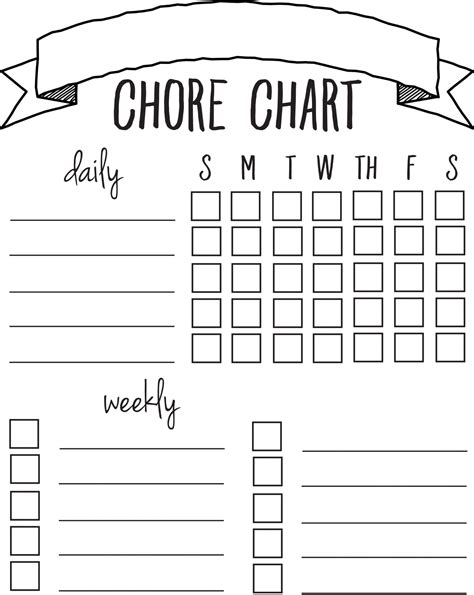 diy printable chore chart sincerely sara