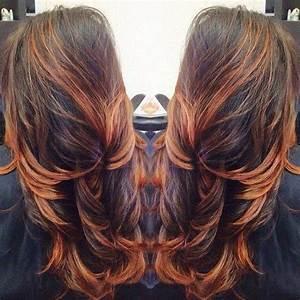 Ombré Hair Cuivré : brunette hair styles coiffure cheveux cuivr ombre ~ Melissatoandfro.com Idées de Décoration