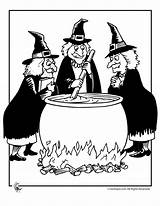 Witch Halloween Witches Cauldron Coloring Pages Printable Template Google Brujas Templates Wizards Silhouettes Cooking sketch template