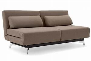 Brown contemporary convertible sofa bed apollo bark for Contemporary convertible sofa bed