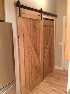 HIS & HER custom pantry sliding barn door Awesome