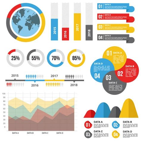 statistics template infographic template with useful statistics vector free