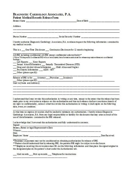 18606 emergency release form fresh emergency release form release form sle