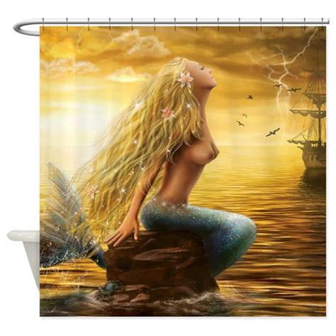 Mermaid Bathroom Accessories Uk by Golden Mermaid Shower Curtain By Goldenmermaid1