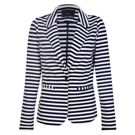 navy  white stripe blazer shop  pay  delivery besaz boutique nigeria ghana