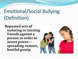 Identifying and Defining Bullying - ppt video online download
