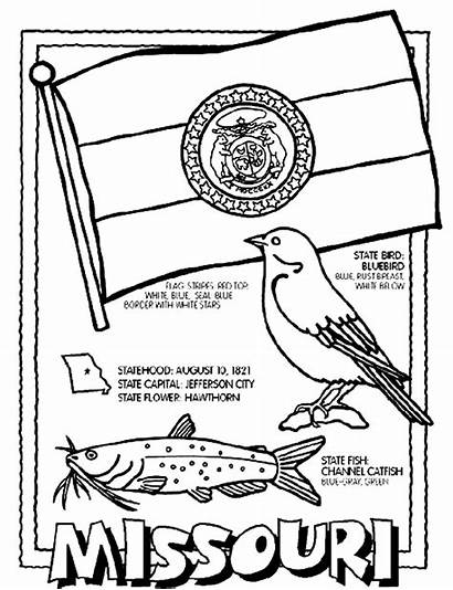 Coloring Crayola Missouri State Pages Sheets Flag