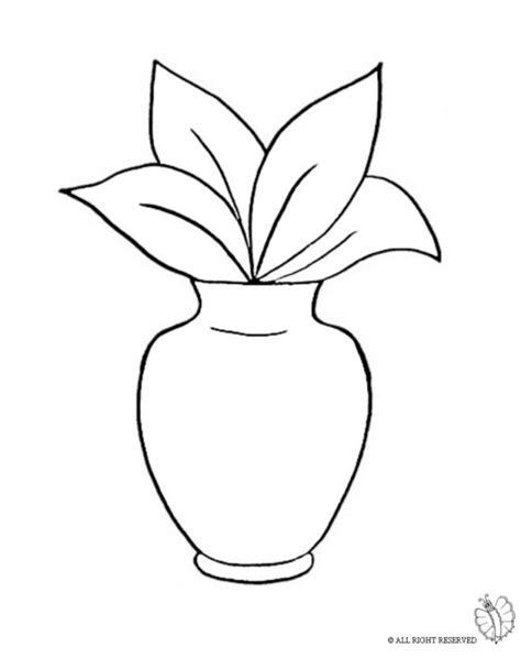 vaso per pianta disegno di vaso con pianta da colorare per bambini gratis