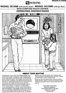 Maytag Washer Dryer Se1000 Users Manual
