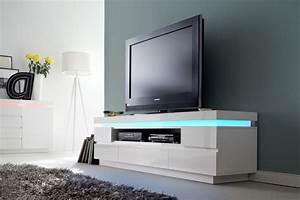 Tv Lowboard Led : tv lowboard wei hochglanz lackiert moderner tv schrank mit led beleuchtung breite 175 cm ~ Indierocktalk.com Haus und Dekorationen