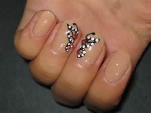 Butterfly nail art design
