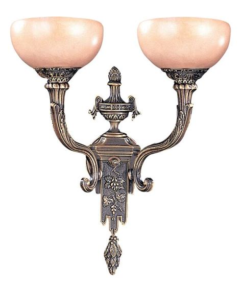 crystorama bronze natural alabaster 2 light double wall sconce bronze 952 bz from natural