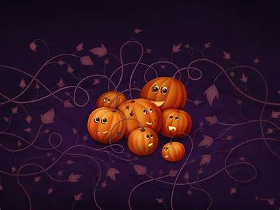 Halloween Happy Scary Pumpkins Wallpapers Witches Web