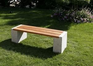Gartenbank Metall Holz : gartenbank aus granit und holz ~ Michelbontemps.com Haus und Dekorationen
