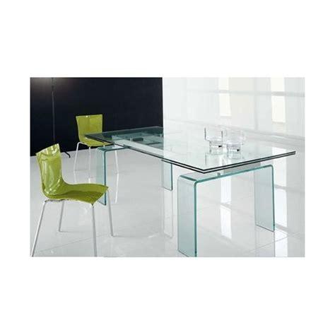 table salle 224 manger verre 150 210 90 75 cm