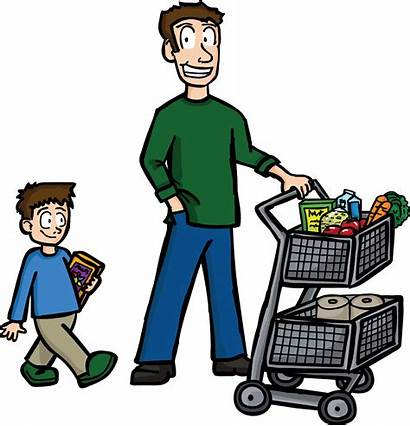 Clipart Shopping Buying Dad Father Transparent Tatay