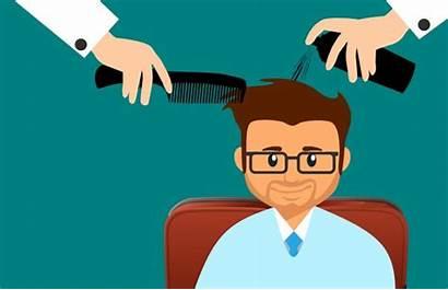 Hair Salon Haircut Hairdresser Cartoon Care Clip