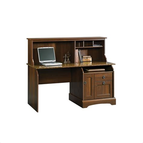 sauder graham ridge w hutch euro oak computer desk ebay