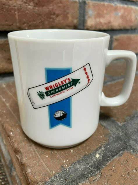 Australian sitting in a cafe, drinking coffee, eating bun with jam. Vintage Wrigley's- Spearmint Chewing Gum Coffee Cup- White 8oz   eBay