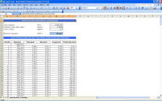 excel amortization templates amortization schedule calculator excel templates