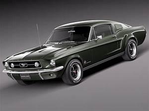 Ford Mustang Fastback : 3d max 1967 mustang fastback ~ Melissatoandfro.com Idées de Décoration