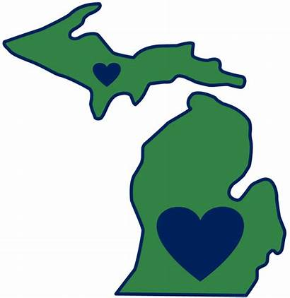 Michigan State Outline Shape Clipart Flag Mitten