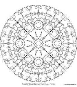 Rose Window Coloring Page