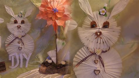 diy deko hase aus butterbrotpapier selber basteln rabbit