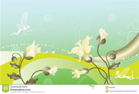 fairy tale floral background stock  image