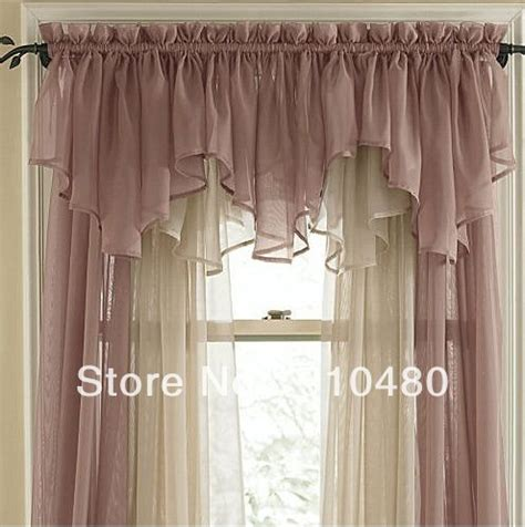 rideau de luxe 19 curtain rod curtain rod valance sheer curtain valances pink elegance sheer voile