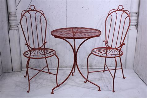 Table Sets Wrought Iron by Wrought Iron 2 Chairs Table Set