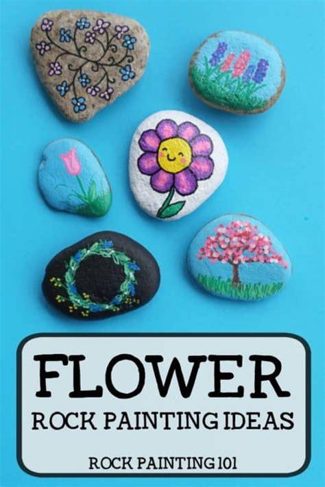 easy flower rocks    people smile rock
