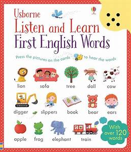 """""""Listen and learn first English words"""" at Usborne Children ..."""