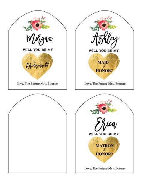 Will You Be My Bridesmaid Wine Label Template by Print Will You Be My Bridesmaid Free Printable Wine Labels