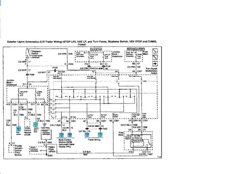 2010 Silverado Trailer Wiring Diagram by I A 2001 Chevy Tahoe With A Trailer Package Somehow