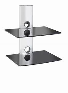 Vonhaus Tier Black Floating Shelves With Silver Shelf