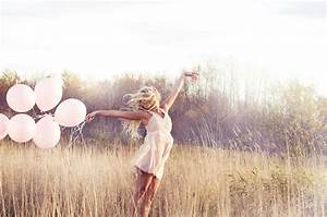 balloons, blonde, field, girl, photography - image #135700 ...