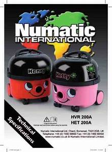 Numatic Henry Hvr200a Vacuum Cleaner Download Manual For