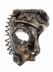 Steampunk half-mask android - maskworld com
