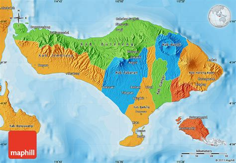 political map  bali
