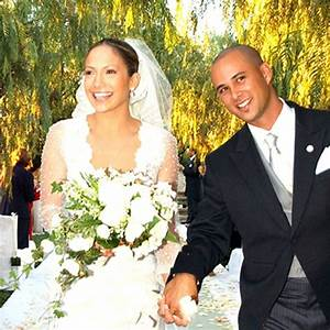 tbt jennifer lopez39s loves and weddings in photos brides With jlo wedding dress