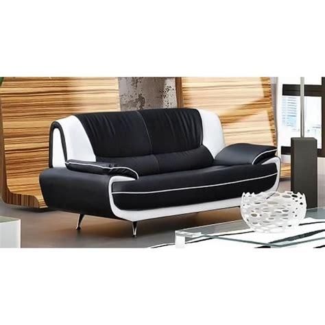 canapé mal de dos canapé 3 places design noir et blanc marita achat