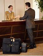desk clerk may receive payments from guests, assign rooms and answer ...