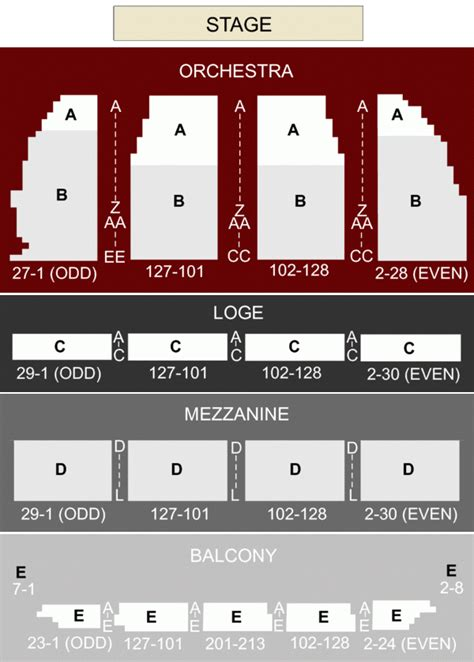 orpheum theater san francisco detailed seating chart brokeasshomecom