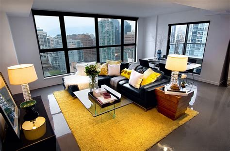 Wohnzimmer Grau Gelb by Gray And Yellow Living Rooms Photos Ideas And Inspirations
