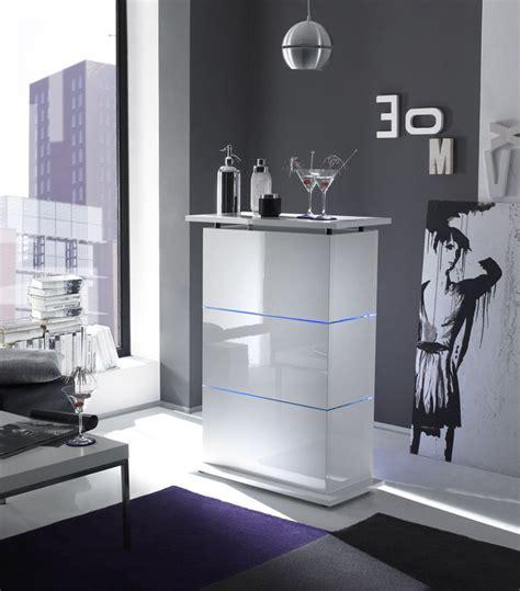 mobile bar moderno mobile bar con led contenitore laccato lucido bianco