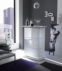 Mobile bar con Led contenitore laccato lucido bianco Design moderno da Soggiorno eBay