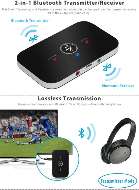 bluetooth audio transmitter 2 in 1 wireless bluetooth transmitter receiver a2dp stereo audio adapter ebay