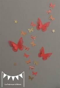 stickers papillons corail abricot pche gris et dor With tapis chambre bébé avec fleurs artificielles grossiste belgique