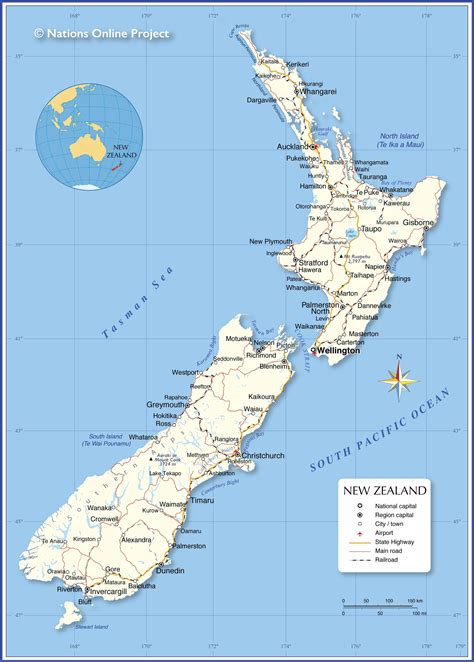 political map   zealand nations  project